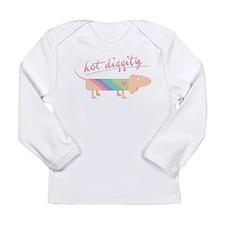 Hot Diggity Dachshund Long Sleeve Infant T-Shirt