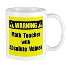 WARNING: Math Teacher 2 Mug