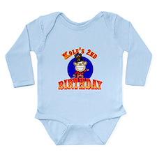 Kole's 2nd Birthday II Long Sleeve Infant Bodysuit