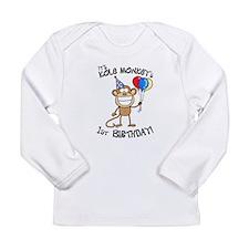 Kole's 1st bday Long Sleeve Infant T-Shirt