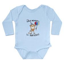 Kole's 1st bday Long Sleeve Infant Bodysuit