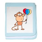 Monkey with Balloons baby blanket