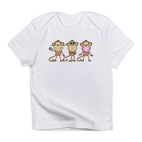 Hear See Speak No Evil Monkey Infant T-Shirt