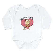 Monkey Love Long Sleeve Infant Bodysuit