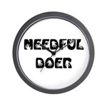 Needful Doer Wall Clock