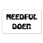 Needful Doer Sticker (Rectangle 10 pk)