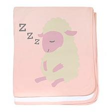 ZZZ Sleepy Sheep baby blanket
