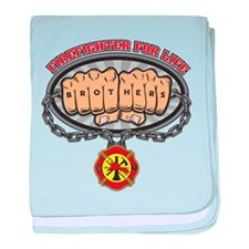 Firefighter for Life Fists baby blanket