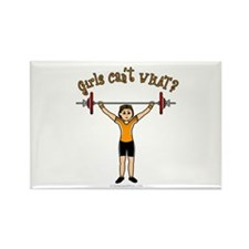 Light Girl Weightlifting Rectangle Magnet