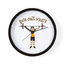 Light Girl Weightlifting Wall Clock
