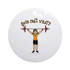 Light Girl Weightlifting Ornament (Round)