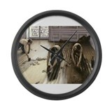 Labourer Large Wall Clock