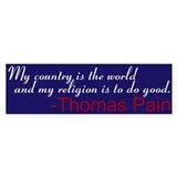 My country, my religion... Thomas Paine sticker