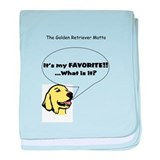 Golden Retriever Motto - Whit baby blanket