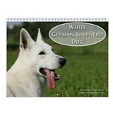 White German Shepherd Dog Wall Calendar