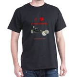 I love recumbents dark t-shirt