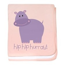 Hip Hip Hurray! Hippo baby blanket