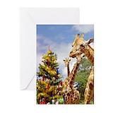 Giraffe  christmas Greeting Cards (10 Pack)
