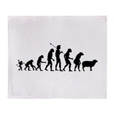 Evolution of Sheeple Throw Blanket