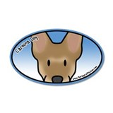 Anime Carolina Dog 20x12 Oval Wall Peel