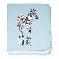 Wild Thing Zebra baby blanket