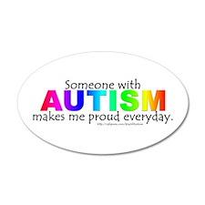 Autism Pride 35x21 Oval Wall Peel