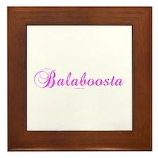 Balaboosta Yiddish Framed Tile