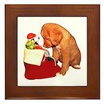 Toller Christmas Framed Tile