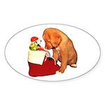 Toller Christmas Sticker (Oval 10 pk)