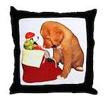 Toller Christmas Throw Pillow