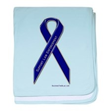 Support Law Enforcement Ribbon baby blanket