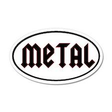 Metal 20x12 Oval Wall Peel