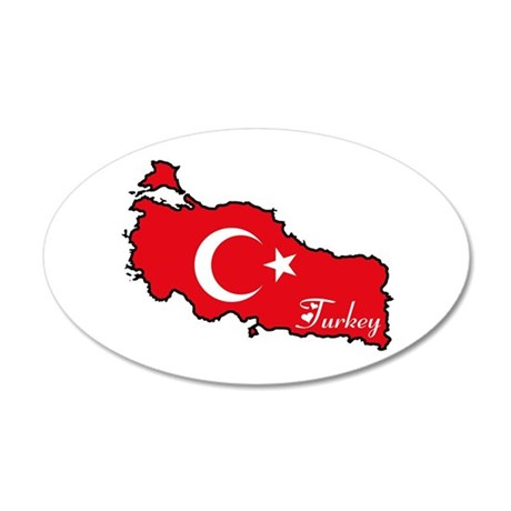 Cool Turkey 20x12 Oval Wall Peel