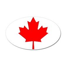 Maple Leaf 20x12 Oval Wall Peel