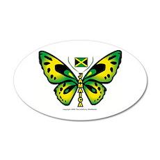 Jamaica Butterfly 20x12 Oval Wall Peel