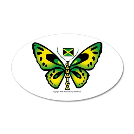 Jamaica Butterfly 35x21 Oval Wall Peel