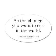 Mahatma Gandhi 5 35x21 Oval Wall Peel