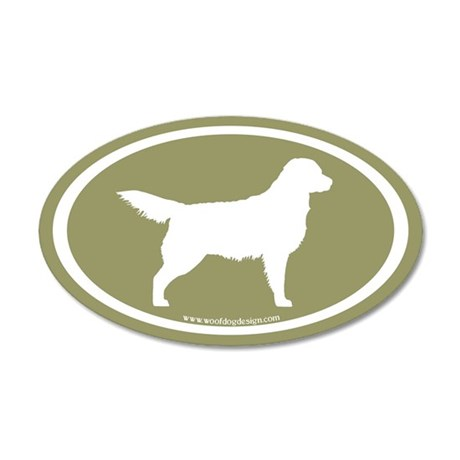 Sage Golden Retriever (wht on sage) 20x12 Oval Wal