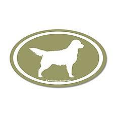 Sage Golden Retriever (wht on sage) 35x21 Oval Wal