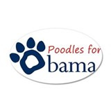 Poodles for Obama Sticker