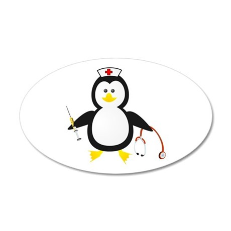 Penguin Nurse 35x21 Oval Wall Peel