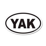 YAK Euro 35x21 Oval Wall Peel