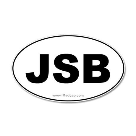 JSB Car 35x21 Oval Wall Peel