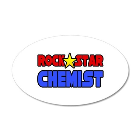 """Rock Star Chemist"" 20x12 Oval Wall Peel"