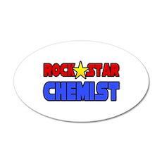 """""""Rock Star Chemist"""" 35x21 Oval Wall Peel"""