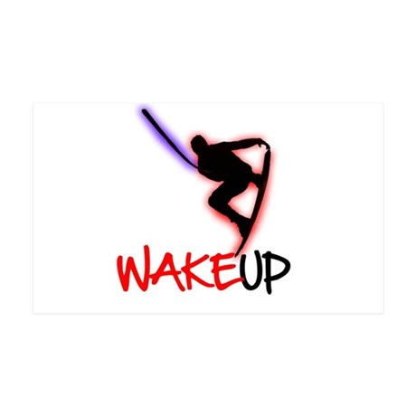 Wake Up Red/Purple 35x21 Wall Peel
