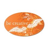 Orange Chakra 20x12 Oval Wall Peel