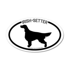 """Irish Setter"" White 35x21 Oval Wall Peel"
