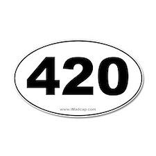 420 Car 35x21 Oval Wall Peel
