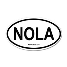 New Orleans 35x21 Oval Wall Peel